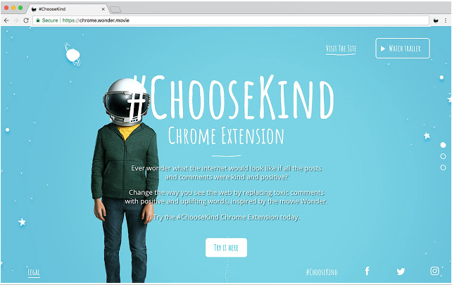 #ChooseKind Chrome Extension
