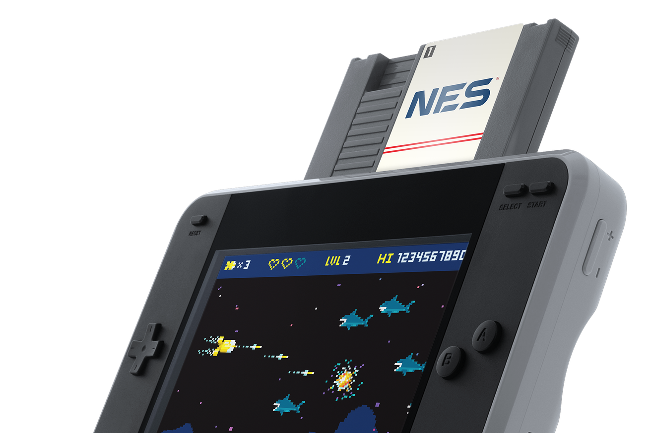 This handheld will let you play NES and Famicom cartridges